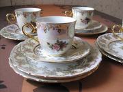 Набор красивой чайной посуды Чехия,  оригинал.