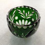 Современная новая ваза -конфетница цветной хрусталь,  Белоруссия.