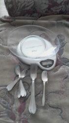 Вилки мельхиоровые, набор ложек(чайные и кофейные)
