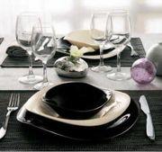 Столовый сервиз Luminarc Volare Bone Black&White на 6 персон (19 пр.)