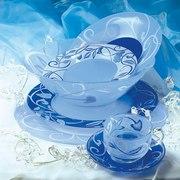 Столовый сервиз Luminarc PLENITUDE BLUE 38+7 предметов 6 персон